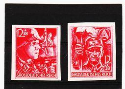 MAG1076  DEUTSCHES REICH 1945  MICHL 909/10 U GESCHNITTEN   ** Postfrisch Siehe ABBILDUNG - Unused Stamps