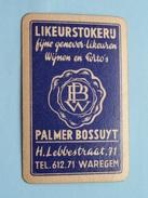 Likeurstokerij PALMER BOSSUYT WAREGEM / HARTEN 7 ( Zie Foto´s Voor En Achter ) ! - Playing Cards (classic)