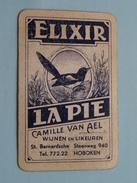 ELIXIR LA PIE Camille Van AEL HOBOKEN Wijnen En Likeur / SCHOPPEN 8 ( Zie Foto´s Voor En Achter ) ! - Playing Cards (classic)