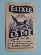 ELIXIR LA PIE Camille Van AEL HOBOKEN Wijnen En Likeur / KLAVEREN 7 ( Zie Foto´s Voor En Achter ) ! - Playing Cards (classic)