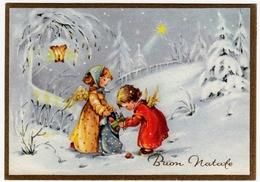 BUON NATALE - ANGELI CON DONI - 1966 - Santa Claus