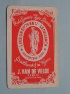 Likeurstokerij LEDEGANCK - J. Van De VELDE EEKLO / KLAVEREN 9 ( Zie Foto´s Voor En Achter ) ! - Playing Cards (classic)