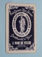 Likeurstokerij LEDEGANCK - J. Van De VELDE EEKLO / KLAVEREN 8 ( Zie Foto´s Voor En Achter ) ! - Playing Cards (classic)