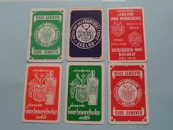 Jenever Distillerie VAN HOOREBEKE - EEKLO / 6 Verschillende ( Zie Foto´s Voor En Achter ) ! - Playing Cards (classic)