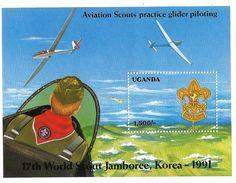 1992 Uganda Boy Scouts  Airplanes Aviation Complete Set Of 2 + Souvenir Sheet MNH - Ouganda (1962-...)
