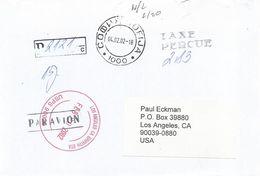 Bulgaria 2002 Sophia Unfranked Postage Paid Registered Cover - Bulgarije
