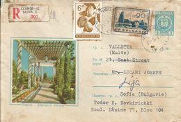 Bulgaria 1965 Sophia Walnut Chemical Industry Registered Cover - Bulgarije