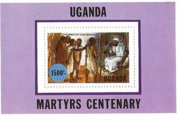 1986 Uganda Christian Martyrs Complete Set Of 4 + Souvenir Sheet MNH - Uganda (1962-...)