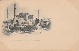 CPA Pionnière - Carte Nuage. TURQUIE - CONSTANTINOPLE. - Mosquée De Sainte-Sophie. L.-J. & Cie, Angoulème. Vierge. - Turkey