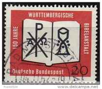 Germany 1962, Wurttemberg Bible Society, 20pf, Sc#851, Used - [7] Federal Republic