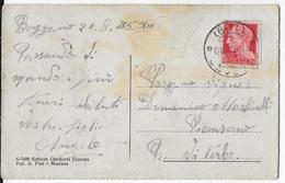 STORIA POSTALE REGNO - ANNULLO FRAZIONARIO - BAZZANO (BO) 11-9 - 20.08.1935 SU CARTOLINA BAZZANO - 1900-44 Victor Emmanuel III