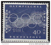 Germany 1960, Olympic Chariot Race, 40pf, Sc#816, Used - [7] Federal Republic