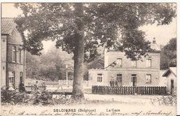 SELOIGNES LA GARE Momignies Feldpost 12 09  1914 Allemande 1164/d3 - Gares - Sans Trains