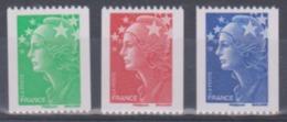 Année 2008 - N° 4239 à 4241 - Marianne De Beaujard - Provenance De Roulettes - Avec N° Noir - Série 3 Valeurs - 2008-13 Marianne De Beaujard