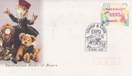 Australia 1997 Mi. 55.1 FDC Stamp & Coin Expo ATM (T16-37) - ATM - Frama (viñetas)