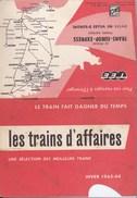 Les Trains D'Affaires, Horaires 1963 Des Trans-Europ-Express Entre 90 Villes D'europe - Europe
