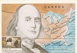 Carte Maximum 1983 US Bicentennial   Treaty Of  Paris 1783 - Cartes-Maximum (CM)