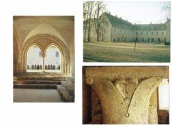 Lot 7 Cpm - SEGRY - Abbaye De La PREE Hiver Chapiteau Carreau Pavement Statue Ange Garçon Nu - France