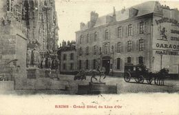 REIMS  Grand Hotel Du Lion D'Or Diligence Recto Verso - Reims