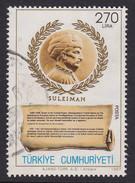 Türkei 1987, Mi-Nr. 2798, Sultan Suleyman II, Gestempelt, Siehe Scan - 1921-... Republik
