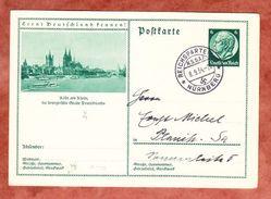 P 232 Hindenburg, Abb: Koeln, SoSt Reichsparteitag Nuernberg, Nach Planitz 1934 (41113) - Deutschland