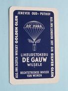Likeurstokerij DE GAUW WILSELE ( Golden Glen ) / HARTEN 9 ( Zie Foto´s Voor En Achter ) !! - Playing Cards (classic)