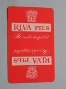 RIVA Pils Reinheitsgebot / RUITEN 3 ( Zie Foto´s Voor En Achter ) !! - Playing Cards (classic)