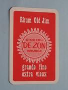 Rhum OLD JIM Stokerij DE ZON BRUGGE / HARTEN 6 ( Zie Foto´s Voor En Achter ) !! - Playing Cards (classic)