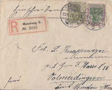 DR R-Brief Mif Minr.147,150 Hamburg 19.4.20 Gel. Nach Volmerdingsen - Deutschland