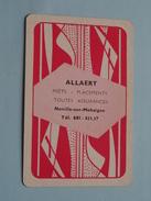 ALLAERT NOVILLE-sur-MEHAIGNE Assurances / HARTEN 4 ( Zie Foto´s Voor En Achter ) !! - Playing Cards (classic)