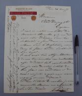 75 008  France, Lettre Avec Entête, Paris, Victor Palyart, Etiquettes De Luxe, Tableaux Annonce, 1876 - 1800 – 1899