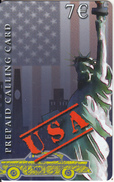 GREECE - USA, Statue Of Liberty/New York, Amimex Prepaid Card 7 Euro(glossy Surface), Sample - Greece