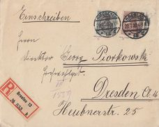 DR R-Brief Mif Minr.103a, 104b Geprüft Breslau 29.7.20 - Deutschland