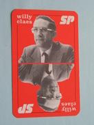 SP Willy Claes / KLAVEREN 10 ( Zie Foto´s Voor En Achter ) !! - Playing Cards (classic)
