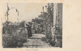 """CPA - Fleurs De Nazareth. """"La Vie Pittoresque En Orient"""". Serie N. N°1. Animée. Vierge. - Israel"""