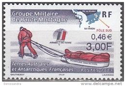 TAAF 2001 Yvert 294 Neuf ** Cote (2015) 1.50 Euro Armée De Terre Homme Avec Traîneau - Neufs