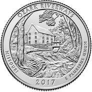 USA EEUU 25 CENTS. QUARTER DOLLAR  2017 OZARK RIVERWAYS  D O P  A ELEGIR  UNC - PAS CIRCULÉE  - SC - EDICIONES FEDERALES
