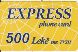 ALBANIA - Express Prepaid Card 500 Leke, Used - Albania