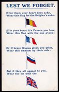 WORLD WAR I - ** LEST WE FORGET ** Rare ! LONDON E.C.  Series 202 - Guerre 1914-18