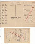 Vosges ,carte Provisoire De Sinistré + Un Exemplaire Vierge ,1945 - Documents