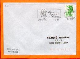 BAS RHIN, Saverne, Flamme SCOTEM N° 10267, Telegraphe Ligne  De Paris à Strasbourg - Postmark Collection (Covers)