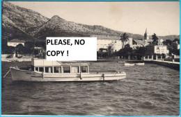 OREBIC - Peljesac * Croatia * Travelled 1955. * Boat - Croatia