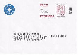PAP REPONSE CIAPPA MEDECINS DU MONDE N° 81951 - Entiers Postaux