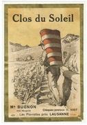 Rare // Clos Du Soleil, Les Pierrettes Près Lausanne M.Bugnon, Vaud // Suisse - Etiquettes