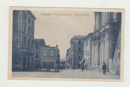 TARQUINIA (VITERBO) - PIAZZA NAZIONALE - CORSO VITTORIO EMANUELE - VIAGGIATA 1932 - ITALY  POSTCARD - Viterbo