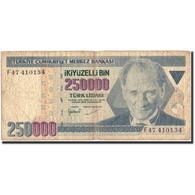 Turquie, 250,000 Lira, 1970, KM:207, 1970-10-14, B - Turchia