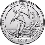 USA EEUU 25 CENTS. QUARTER DOLLAR   FUERTE MOULTRIE 2016  D O P  A ELEGIR  UNC - PAS CIRCULÉE  - SC - EDICIONES FEDERALES