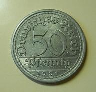 Germany 50 Reichspfennig 1921 - [ 3] 1918-1933 : Weimar Republic