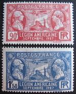 LOT 3804/18 - 1927 - LEGION AMERICAINE - N° 244 à 245 NEUFS* - France