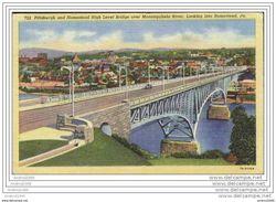 PITTSBURGH And Homestead High Level Bridge Over Monongahela River, Looking Into Homestead - Oblitération De 1955 - Pittsburgh